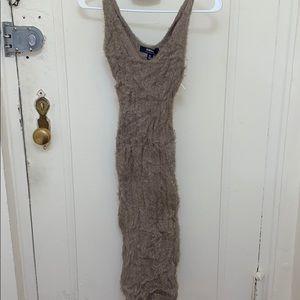 Fuzzy Bodycon Dress